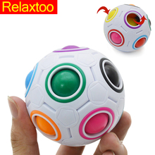 Buy Newest Fidget Toy Ball Fantastic EDC Rainbow Magic Cube Relax Adult Kid Child Funny Toy Gift Puzzle Magic Gift for $4.13 in AliExpress store
