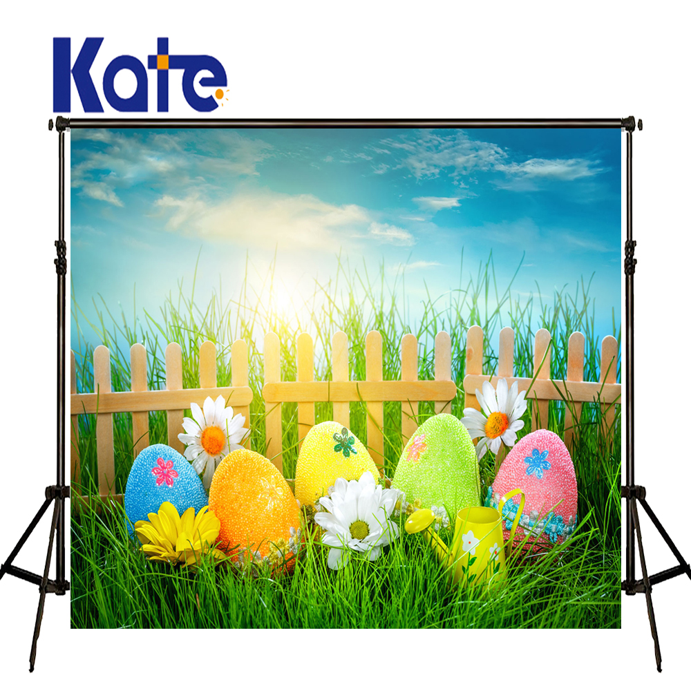 5x7ft Kate Easter Basket Background Outdoor Sky Multi-size Reable Background Daily Brilliant Photography Cloth<br>