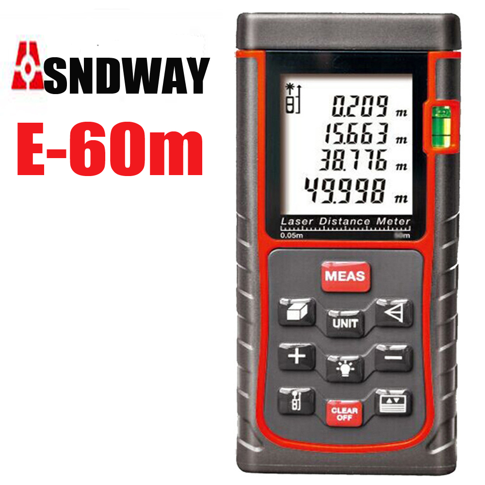 electronic laser ruler digital rangefinder Range finder 60 m Area / angle test tools / Instrument Housing decoration<br>