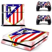 Spanish football team La Liga Club Atletico de Madrid PS4 Skin Sticker For Sony PS4 PlayStation 4 Console and 2 Controller