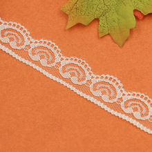 "New 10 Yards  2.5cm 1"" Heart Love Wave White Embroidery Lace Embroidered Water Soluble Cotton Cloth Lace Trim Ribbon"
