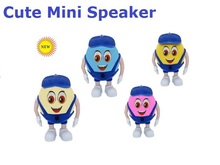 Free Shipping Cute Mini Speaker w/ FM U-Disk TF Card MP3 Player for Cellphones Tablet PC Mini Speaker