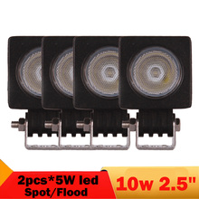 4 PCS 10W 3 Inch Spot Flood Offroad LED Driving Light ForTruck Pickup Boat ATV UTB UTV 4X4 4WD Suv Headlight Fog Lamp 12V 24V
