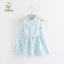 Children's clothing wholesale 2017 summer new girls printed cheongsam  princess dress Chinese characteristics Kids pretty dress