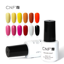 CNF Nail Gel Roal Blue Emerald Green Princess Yellow Pure Color For Beauty Nail Art Soak Off Led Gel Nail Polish 6ml