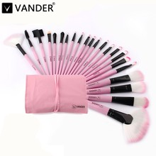 Vander Pro 22pcs/set Pink Makeup Brushes Kits For Women Make Up,Eye Face Lip Cosmetic Brush Beauty Tools Set + Case maquiagem(China)