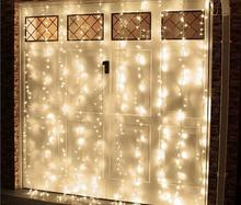 3mx3m Romantic Holiday String Lighting LED Window Door Curtain Light Icicle Christmas Home Decorative Garland Fairy Lamp US Plug