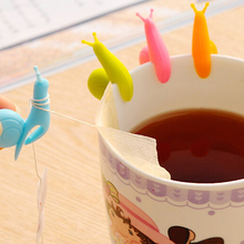 5pcs/set dolce gusto Cute Snail Wineglass Label For Tea Bag Hanging Mug Cup Clip Tea Infuser Party Supplies Product IC875327(China)