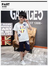 85c3f53f373 2018 Baby Boys Summer Clothes Kids T-Shirt + Shorts 2pcs School Boys  Clothing Set Tee Children Clothes Suit