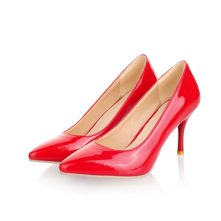 Point Toe Cut Out High Heels Women Shoes 2017 New Fashion Casual Pumps Woman Thin Heel Big Size Shoes Plus Size 44 45 46 47<br><br>Aliexpress