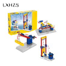 DIY!!! Engineering Elevator Lifts Building Blocks Mechanical Model Kids Toys Kids Science Educational Toys(China)