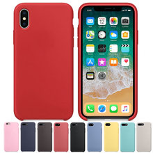 Original Have LOGO Silicone Case for Coque iPhone X Slim Armor Phone Cases For Fundas iPhone 6 6S 7 8 Plus Back Cover Retail Box(China)