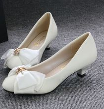 New coming! Fashion bow wedding shoes for women PR604 bridal's spring summer autumn white pump shoe bridesmaid party shoes