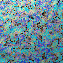 Retro Peacock Fabric 100% Cotton Fabric Peacock Feathers Printed bronzing Japanese Fabric Patchwork Sewing Material Diy Clothing