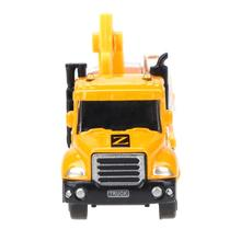 1/64 Alloy Engineering Toy Car Yellow Mini Car Truck Kids Educational Toy Car Model Xmas Gift Children Diecast Vehicles Car(China)