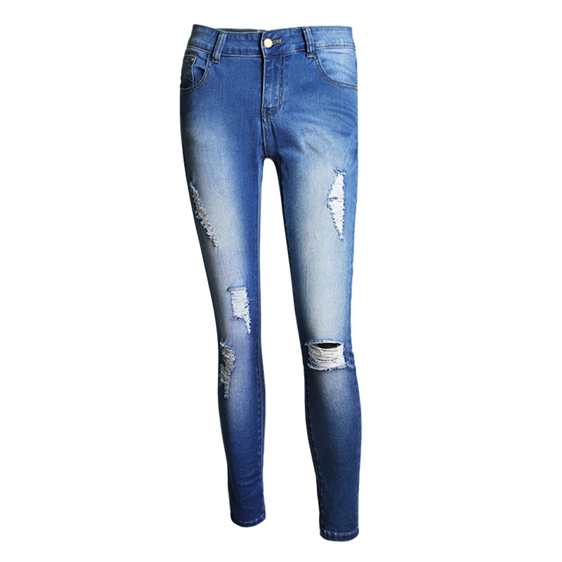 Autumn Jeans Woman High Waist Jean Pants Woman Fashion Sexy Ripped Jean for Women American Apparel Jeans Femme Holes Pencil PantОдежда и ак�е��уары<br><br><br>Aliexpress