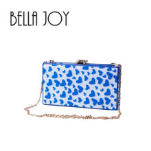 BELLA JOY ancient ways yakeli candy color box handbag Hard box shape hand bag chain shoulder bag dinner packages