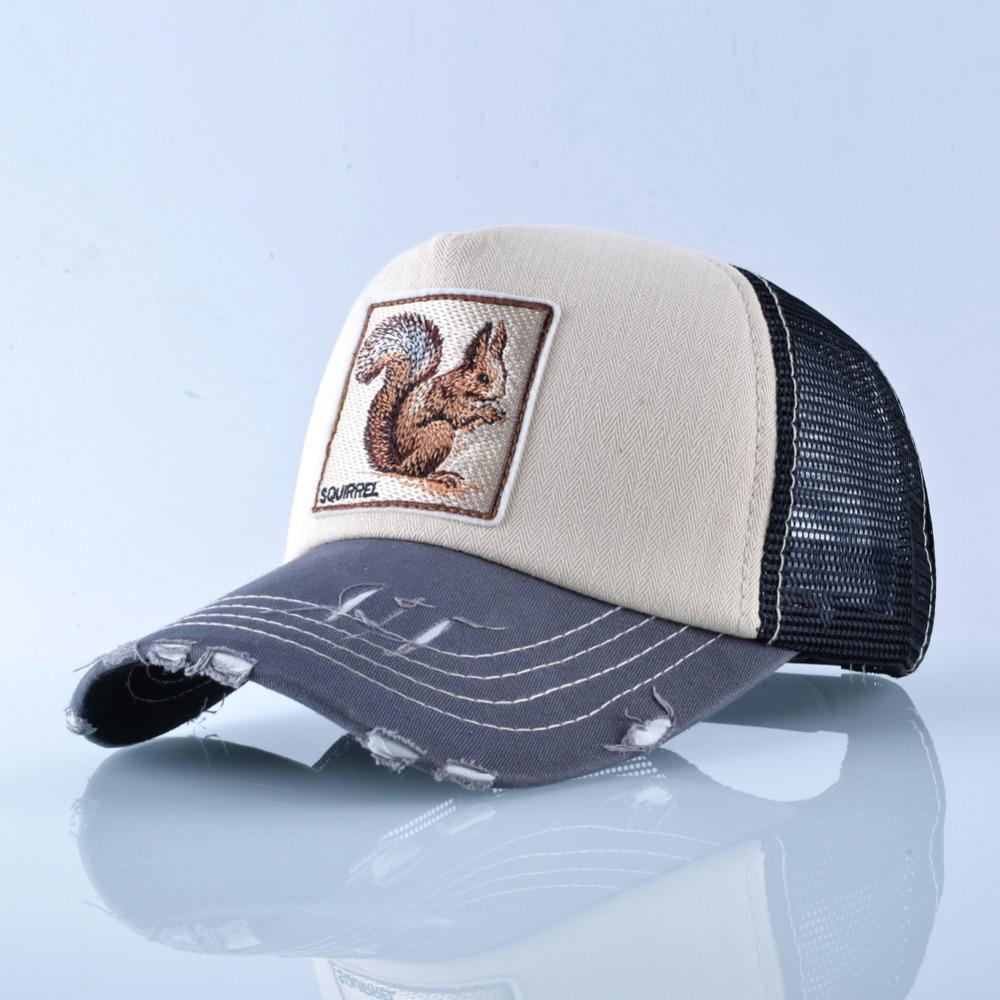 Fashion Unisex Patch Bones Wolf Embroidery Hip Hop Hats Breathable Mesh Baseball Caps Men Women Casquette Summer Trucker Gorras 9