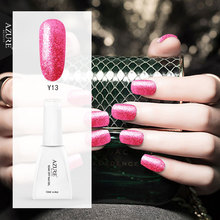 Azure Beauty 12ML Nude Color Gel UV Nail Glue 3D Glitter Gel Polish DIY Nail Art Sparkle Sequins Nail Varnish Led Lamp Gel Lak(China)