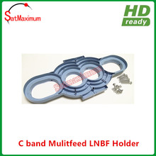 Free shipping Multi Satellite Dish LNB Bracket 4 LNB Mount FTA Holder LNBF(China)
