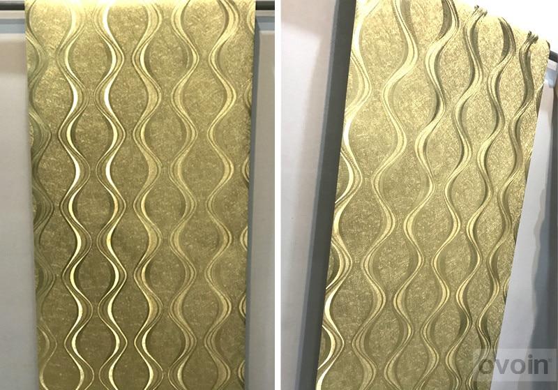 ورق جدران فاخر باللون الفضي او الذهبي لغرف المعيشة 4