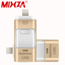 For iPhone 7 6 6s Plus 5 5S ipad Pen drive memory stick Dual mobile OTG Micro USB Flash Drive 16GB 32GB 64GB PENDRIVE