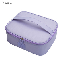 Fashion High Quality Travel Mesh Cosmetic Bag Make Up kit Organizer Packing Cube handbag Beauty Solid color Korean Japan style