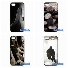 I Love Ice Hockey Phone Cases Cover For Apple iPhone 4 4S 5 5S 5C SE 6 6S 7 Plus 4.7 5.5 iPod Touch 4 5 6(China)