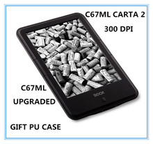 "ONYX BOOX c67ml carta2 plus ebook 8G  touch  screen 6""  ereader 300dpi 3000mAh  Android WIFI electronic book free shipping+cover"
