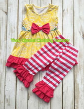 Newest girls shorts set wholesale children's boutique clothing remake toddle girl outfits