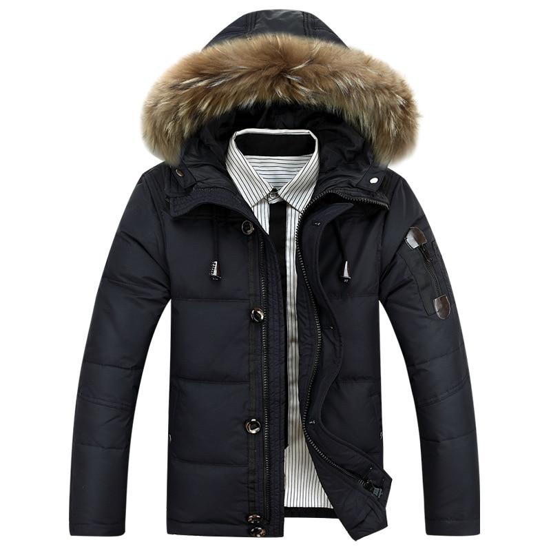 2017 Winter Jackets Mens Light Down Men Duck Down Coat Down Parka Mans Jacket Coats Genuine Fur Parkas Brand Clothing Overcoat