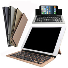 Mini Portable Ultra-Slim Folding Aluminum Wireless Bluetooth Keyboard for iPhone iOS/Android/Windows System/Tablet /Smartphone
