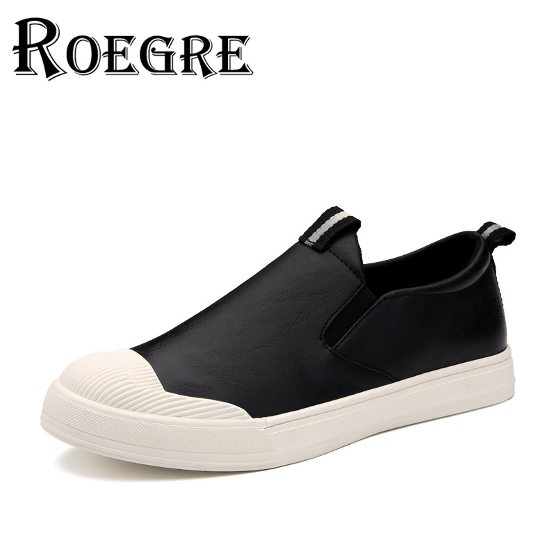 ROEGRE Moccasins Men Shoes 2017 Casual Slip On Flats Blak Brown New Design Outdoor Skate Shoes <br>