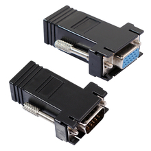 VGA Extender Female/Male to Lan Cat5 Cat5e/6 RJ45 Ethernet Female Adapter Requires No External Power(China)