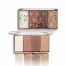 O.TWO.O 4 Colors Contour Bronzer & Highlighter Palette Grooming Powder Palette Brand Makeup Blusher Bronzer Powder Palette