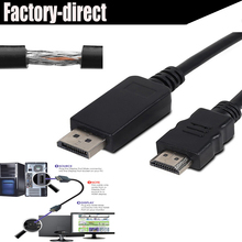 Displayport DP to HDMI cable 1.8M 3M 4.5M 1080P with audio Triple-shielded&High quality(China)