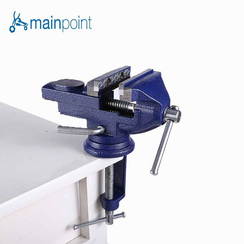 Mainpoint Household Bench Vice Jaw Steel 360 Degrees Adjustable Portable Clamp Metalworking Household Maintenance Table Pliers <br>