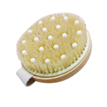 Bath Shower Bristle Brushes Massage Body Brush with Band Wooden Shower Body Bath Brush Cellulite Reduction(China)