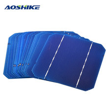 Aoshike 20Pcs 125*125 Monocrystalline Silicon Flexible Solar Panel Solar Cell DIY 2.7W 0.5V Solars Panel China Panneau Solaire(China)