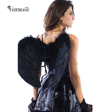 YIZEKOAR New Arrival Fashionable and Charming White/Black/Red Angel Wings Party Costume Accersories(three colors) LC81250(China)