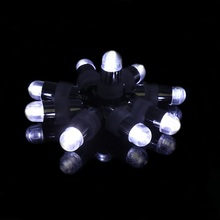 10pcs Hot Pink Mini LED light  Balloons Flash Lights LED Bulbs with Tail Decoration For Party