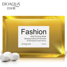 BIOAQUA Gold Bright Lifting Face Tight Skin Silk Mask Autumn Winter Moisturizing Oil Control Wrap Free Shipping
