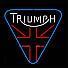 Triumph Motorcycle Neon Sign Neon Bulbs Recreation Garage Gifts Real Glass Handcraft Guarantee Store Display Decorate 17X14 vd