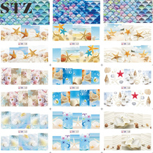 STZ 1 Sheet Water Transfer Sticker Nail Art Summer Sea Animal Shell/Conch/Starfish Decals Manicure Tools for Full Tips BN157-168