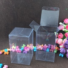 50pcs 5*7*7cm clear plastic pvc box packing boxes for gifts/chocolate/candy/cosmetic/crafts square transparent pvc Box
