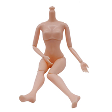 12 Moveable Joints Naked Body Without Head Body For Doll Plastic Solid Cake Baking Princess Female Action Figure Toys For Kids(China)