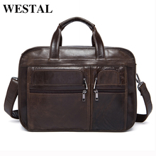 WESTAL Genuine Leather Men Bags Fashion Man Crossbody Shoulder Handbag Men Messenger Bags Male Briefcase Men's Travel Bag 8893