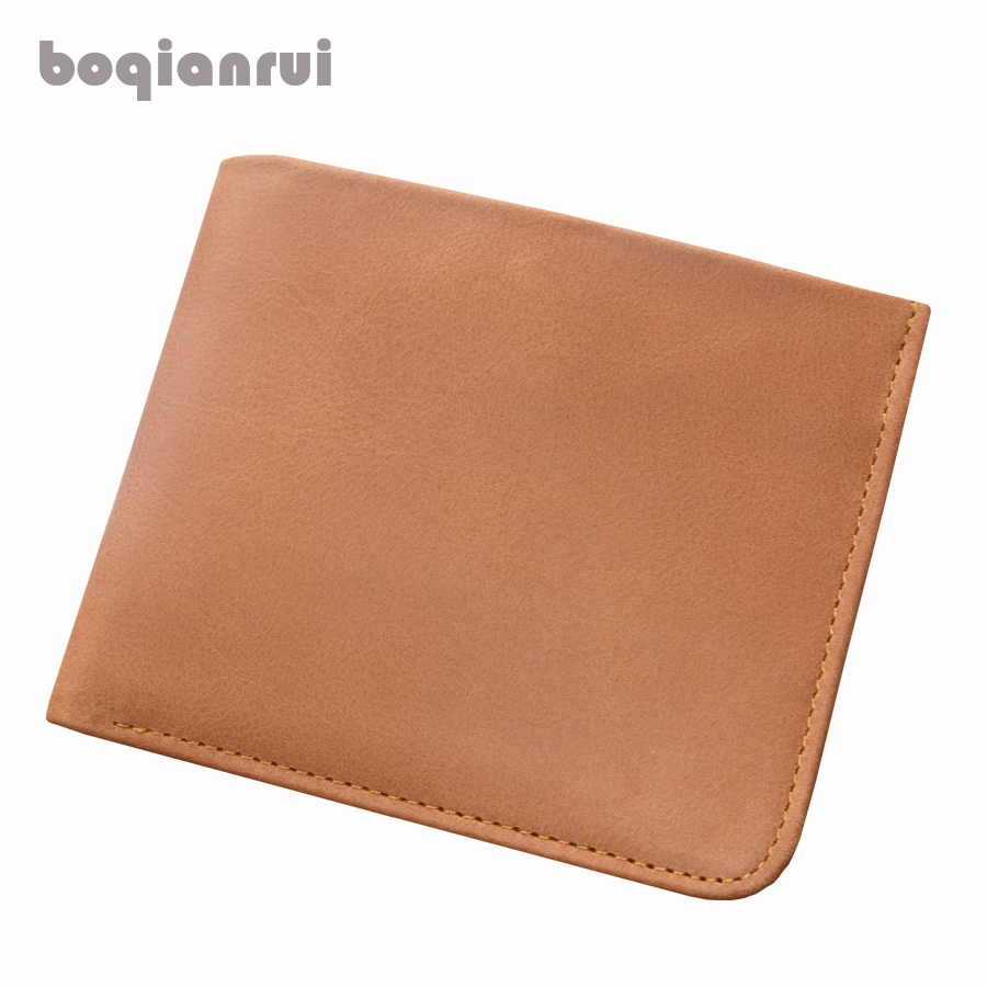 Hot Promotion 2017 thin Men Wallet Male Genuine Leather Wallets Thin Money Dollar Card Holder Purses for Men Free Shipping<br>