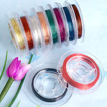 1 0 Roll Multicolor Tiger Tail Tigertail Wire Beading Cords CHIC(China)