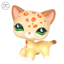 LPS toys Short Hair kitty #852 pet shop Tan Brown Spotted Leopard Cat